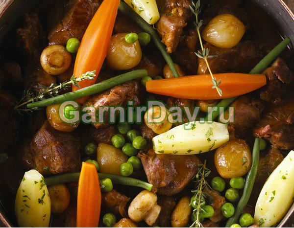 Грибной гарнир с овощами
