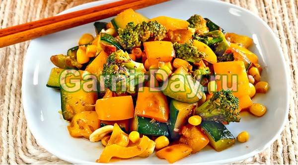 Гарнир из овощей на гриле